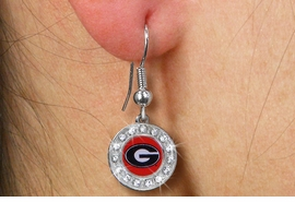 <br>          WHOLESALE GEORGIA  JEWELRY<Br>                   LEAD & NICKEL FREE!!<Br>         OFFICIAL COLLEGE LICENSED!!!<bR>    W19733E - UNIVERSITY OF GEORGIA <Br>     BULLDOGS CRYSTAL EARRINGS <bR>            FROM  $2.99