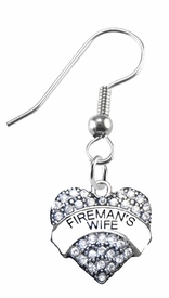 <BR>    WHOLESALE FIREMAN'S WIFE FASHION EARRING  <bR>                      EXCLUSIVELY OURS!!  <Br>                 AN ALLAN ROBIN DESIGN!!  <BR>           LEAD, NICKEL & CADMIUM FREE!!  <BR>      W1673SE1 - ANTIQUED SILVER TONE AND  <BR>CLEAR CRYSTAL FIREMAN'S WIFE CHARM  <BR>     ON SURGICAL STEEL FISHHOOK EARRINGS <BR>              FROM $5.40 TO $10.45 �2015
