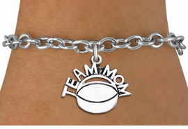 "<br>      WHOLESALE HOCKEY CHARM BRACELET <bR>                     EXCLUSIVELY OURS!! <BR>                AN ALLAN ROBIN DESIGN!! <BR>       CLICK HERE TO SEE 1000+ EXCITING <BR>             CHANGES THAT YOU CAN MAKE! <BR>          CADMIUM, LEAD & NICKEL FREE!! <BR>        W1489SB - DETAILED SILVER TONE <Br> ""TEAM MOM"" HOCKEY CHARM & BRACELET <BR>              FROM $4.50 TO $8.35 �2013"