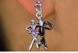 <br>      WHOLESALE ICE SKATING JEWELRY<bR>                   LEAD & NICKEL FREE!! <BR>      W20301E - SILVER TONE AND CRYSTAL <BR> PAIR OF ICE SKATERS POST STYLE EARRINGS <BR>             FROM $6.75 TO $15.00 �2013