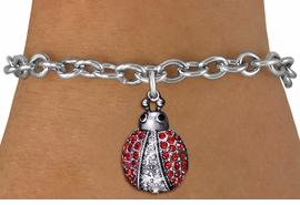 <BR>        WHOLESALE INSECT JEWELRY <bR>                EXCLUSIVELY OURS!! <Br>           AN ALLAN ROBIN DESIGN!! <BR>  CLICK HERE TO SEE 1000+ EXCITING <BR>        CHANGES THAT YOU CAN MAKE! <BR>     LEAD, NICKEL & CADMIUM FREE!! <BR> W1441SB - SILVER TONE, RED AND CLEAR <BR> CRYSTAL LADYBUG CHARM & BRACELET <BR>         FROM $5.50 TO $9.35 �2013