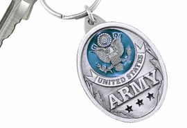 "<Br>      WHOLESALE MILITARY KEY CHAINS <BR>               LEAD & NICKEL FREE!! <Br>     W20507KC - ""UNITED STATES ARMY"" <Br>   PEWTER AND GREEN ENAMEL KEY CHAIN <Br>         FROM $4.73 TO $10.50 �2013"