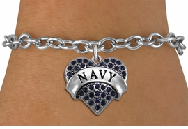 "<BR>  WHOLESALE NAVY BRACELET JEWELRY <bR>                EXCLUSIVELY OURS!! <Br>           AN ALLAN ROBIN DESIGN!! <BR>  CLICK HERE TO SEE 1000+ EXCITING <BR>        CHANGES THAT YOU CAN MAKE! <BR>     LEAD, NICKEL & CADMIUM FREE!! <BR>  W1479SB - SILVER TONE ""MARINES"" <BR> NAVY CRYSTAL HEART CHARM & BRACELET <BR>         FROM $5.50 TO $9.35 �2013"