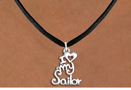 "<br>   WHOLESALE NAVY NECKLACE JEWELRY <bR>                   EXCLUSIVELY OURS!! <BR>              AN ALLAN ROBIN DESIGN!! <BR>     CLICK HERE TO SEE 1000+ EXCITING <BR>           CHANGES THAT YOU CAN MAKE! <BR>        CADMIUM, LEAD & NICKEL FREE!! <BR>     W1499SN - BEAUTIFUL SILVER TONE <BR>    ""I LOVE MY SAILOR"" CHARM & NECKLACE <BR>             FROM $4.50 TO $8.35 �2013"