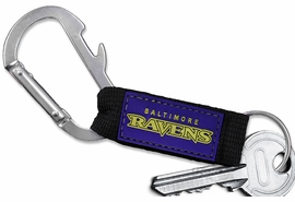 <bR> WHOLESALE NFL FOOTBALL TEAM KEYCHAIN <BR>     OFFICIAL FOOTBALL LICENSED!! <br>             LEAD & NICKEL FREE!!! <br>W20559KC - OFFICIAL BALTIMORE RAVENS <BR>  CARABINER WITH BOTTLE OPENER AND <BR>      KEY CHAIN YOURS FOR $1.43 To $1.68 EACH �2013