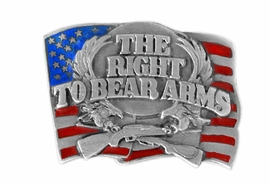 "<BR>      WHOLESALE PATRIOTIC JEWELRY<Br>                    LEAD & NICKEL FREE!!<Br>W15077P - ""THE RIGHT TO BEAR ARMS""<br>  AMERICAN FLAG PIN AS LOW AS $2.21"