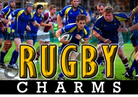 <BR>   WHOLESALE RUGBY CHARMS <BR> CADMIUM, LEAD AND NICKEL FREE <BR>             SOLD INDIVIDUALLY