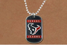 <br>      WHOLESALE TEXAN JEWELRY<Br>       LEAD & NICKEL FREE!!<Br>      OFFICIALLY LICENSED!!<Br>NATIONAL FOOTBALL LEAGUE!!<Br>W19348N - HOUSTON TEXANS<Br>          DOG TAG NECKLACE<br>        FROM $5.63 TO $12.50