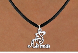 "<br>WHOLESALE US AIR FORCE NECKLACE JEWELRY <bR>                   EXCLUSIVELY OURS!! <BR>              AN ALLAN ROBIN DESIGN!! <BR>     CLICK HERE TO SEE 1000+ EXCITING <BR>           CHANGES THAT YOU CAN MAKE! <BR>        CADMIUM, LEAD & NICKEL FREE!! <BR>     W1501SN - BEAUTIFUL SILVER TONE <BR>    ""I LOVE MY AIRMAN"" CHARM & NECKLACE <BR>             FROM $4.50 TO $8.35 �2013"