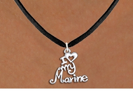 "<br>   WHOLESALE USMC NECKLACE JEWELRY <bR>                   EXCLUSIVELY OURS!! <BR>              AN ALLAN ROBIN DESIGN!! <BR>     CLICK HERE TO SEE 1000+ EXCITING <BR>           CHANGES THAT YOU CAN MAKE! <BR>        CADMIUM, LEAD & NICKEL FREE!! <BR>     W1500SN - BEAUTIFUL SILVER TONE <BR>    ""I LOVE MY MARINE"" CHARM & NECKLACE <BR>             FROM $4.50 TO $8.35 �2013"