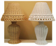 24 Inch Wicker Beaded Lamp