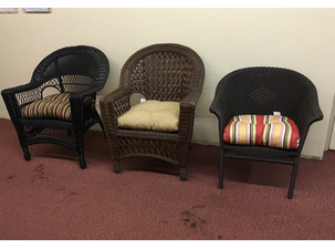3 Outdoor wicker Chairs