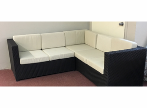 3 Piece Outdoor Wicker Sectional
