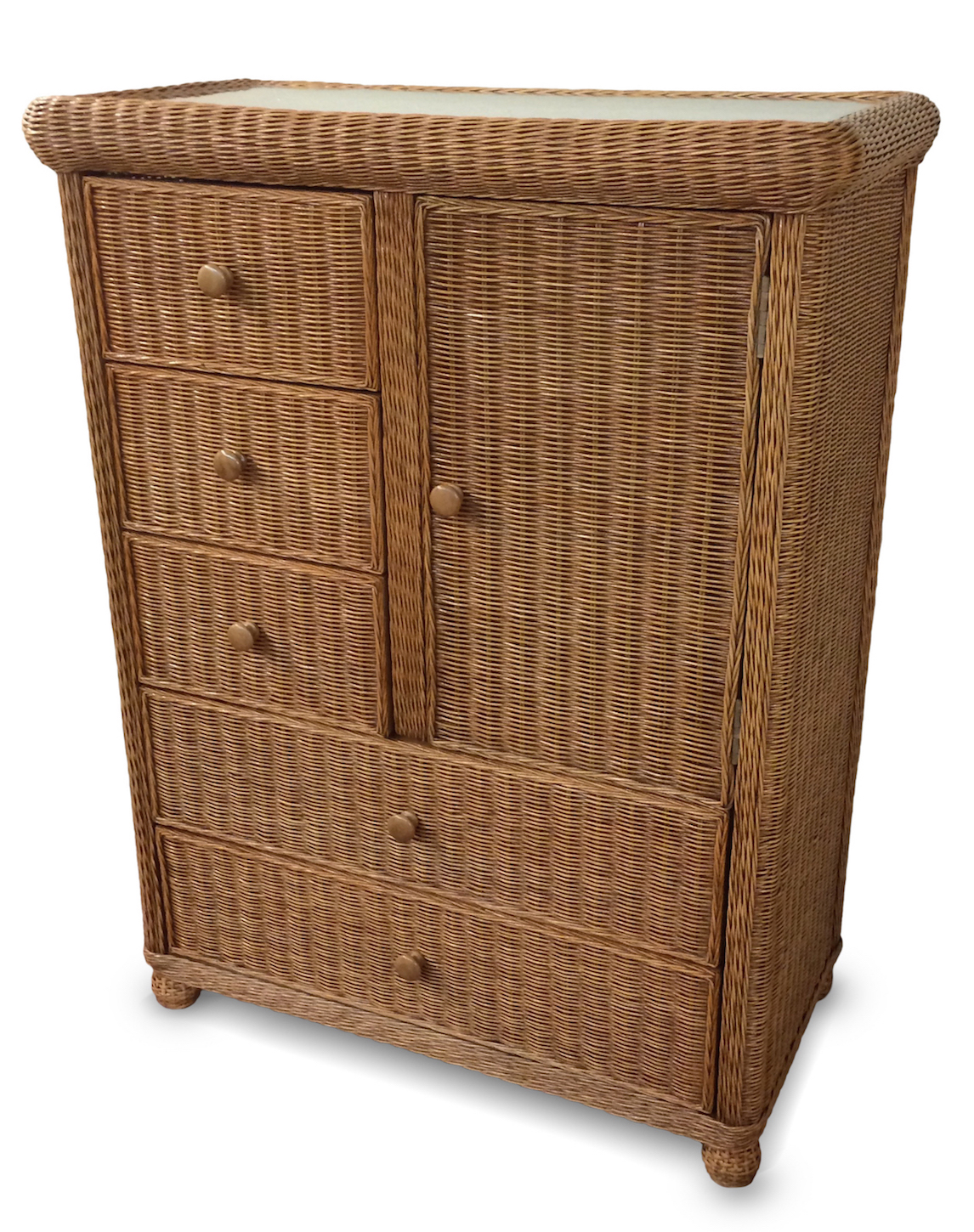 5 Drawer 1 Door Wicker Chest Wicker Paradise