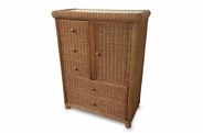 5 Drawer 1 Door Wicker Chest - Elana