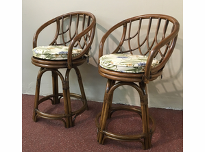 A Pair Of Laneventure Swivel Counter Stools