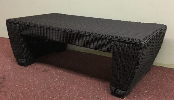 All Weather Wicker Coffee Table Galveston with glass top