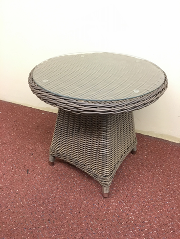 Bayshore Outdoor Wicker Round End Table