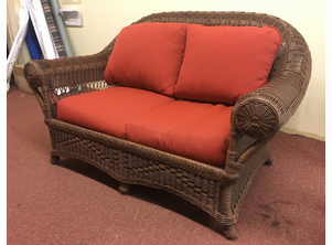 Bel Aire Wicker Loveseat - As Shown