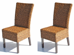 Cabo Seagrass Dining Chairs Set of 2