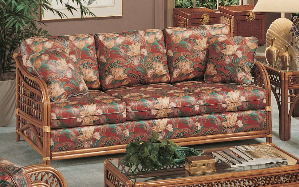 Caliente Rattan Sleeper Sofa