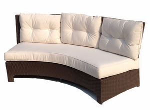 Curved Outdoor Wicker Sofa - Sonoma