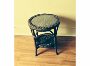 Discount Wicker end table
