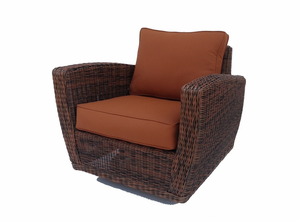 Galveston Outdoor Wicker Swivel Chair