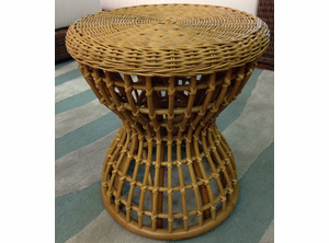 Hourglass Wicker Stool