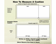 How to Measure Your Replacement Cushions