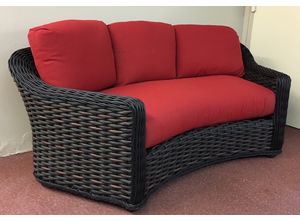 Lake George Outdoor Wicker Curved Sofa