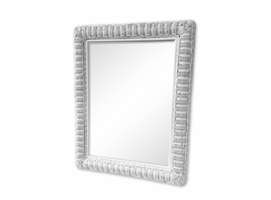 Large Rectangular Wicker Mirror