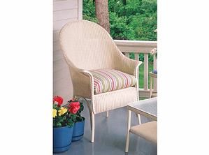Lloyd Flanders Heirloom High Back Chair Replacement Cushion