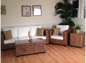 Los Cabos Seagrass Sunroom Furniture set of 3