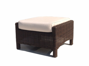 Margate Outdoor Wicker Ottoman