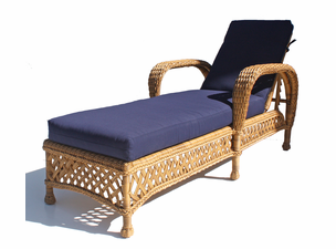 Montauk Outdoor Wicker Patio Chaise-1 Left in Chocolate Brown