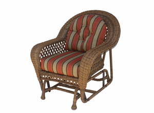 Montauk Wicker Chair Glider