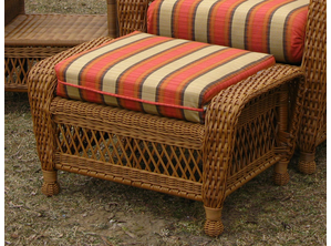 Ottoman Cushion - Wicker Style