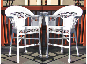 Outdoor Wicker Barstools
