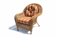 Outdoor Wicker Chair - Montauk Shown in Natural