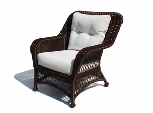 Outdoor Wicker Chair - Princeton Shown in Chocolate Brown