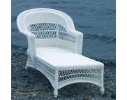 Outdoor Wicker Chaise - Cape Cod Style