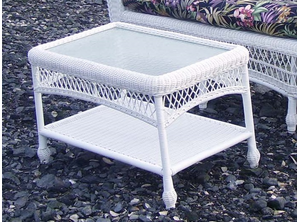 Outdoor Wicker Coffee Table: Cape Cod Rectangular