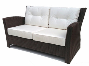 Outdoor Wicker Loveseat - Sonoma
