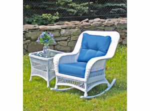 Outdoor Wicker Rocker - Princeton