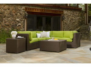 Outdoor Wicker Sectional | Sonoma with Sunbrella Fabric