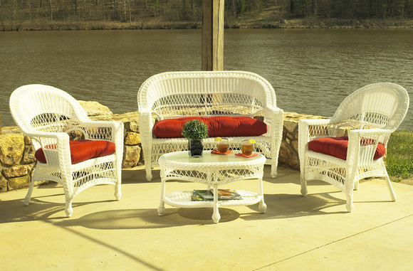 Outdoor Wicker Set of 4: Cape Code Style