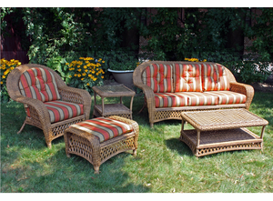 Outdoor Wicker Set of 5 - Montauk Shown in Natural