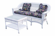 Outdoor Wicker Sofa: Cape Cod Style