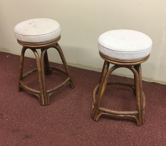 Pair of Rattan Stools
